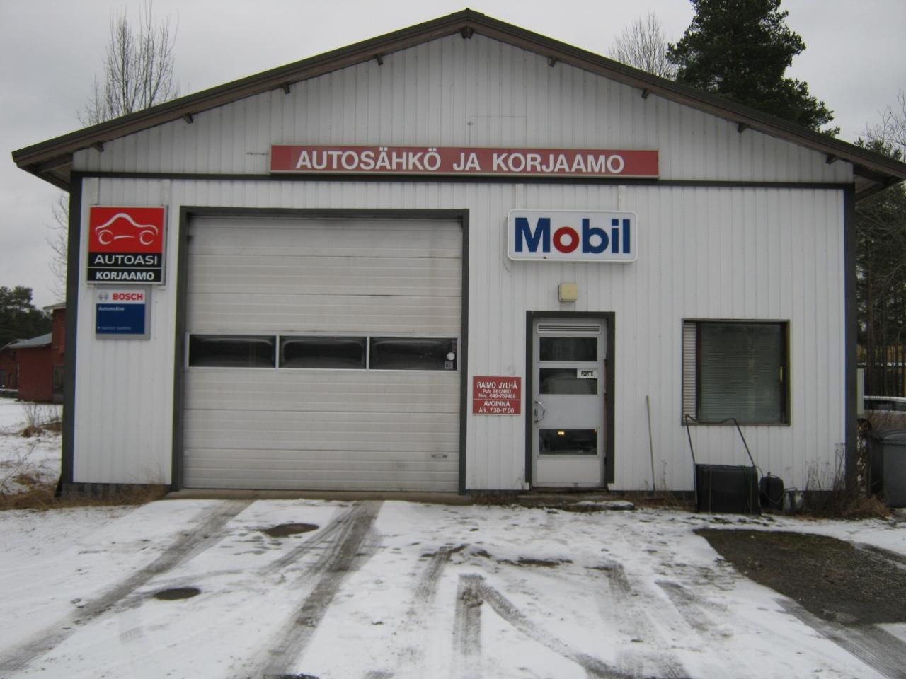 Autosähkö ja korjaamon julkisivu Autoasi Korjaamo